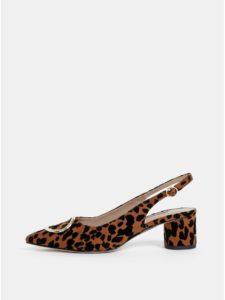 0f431a9f3bd95 Hnedé lodičky s leopardím vzorom Dorothy Perkins