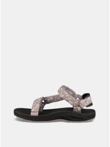 Fialové dámske vzorované sandále Teva