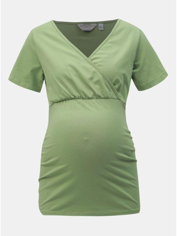 Zelené tehotenské tričko na dojčenie Dorothy Perkins Maternity