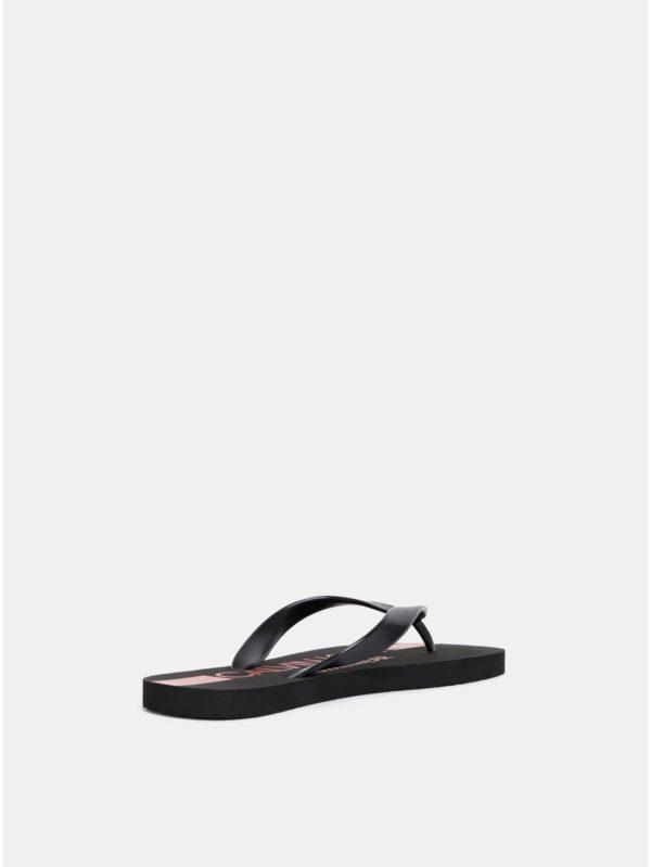 b3d6d8a1dc4fb Čierne pánske žabky s potlačou Calvin Klein Underwear | Moda.sk