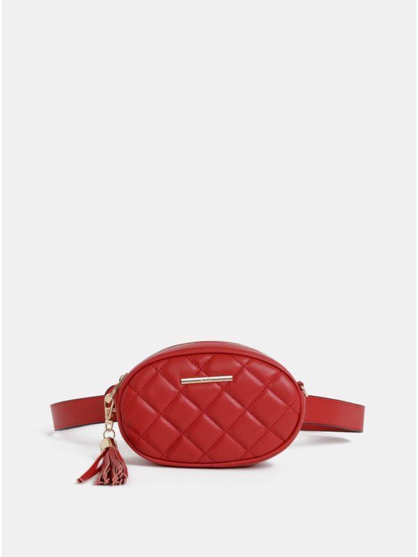 Červená ľadvinka/crossbody kabelka so strapcom ALDO Pounce