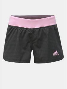 Ružovo–sivé dámske kraťasy adidas Performance