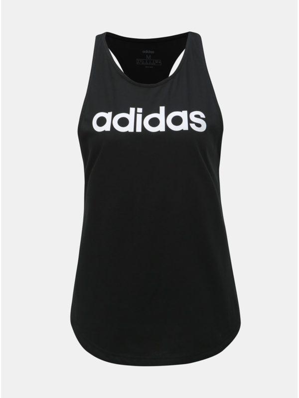 Čierne dámske tielko s potlačou adidas CORE