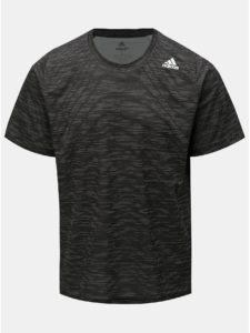 Tmavosivé pánske melírované funkčné tričko adidas Performance