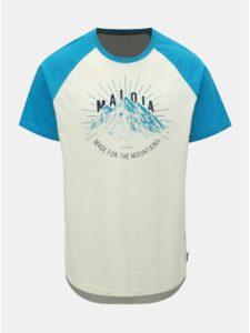 Krémové pánske tričko s potlačou Maloja Piazzet