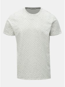 Krémové vzorované tričko Selected Homme Kristian