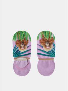 Svetlofialové dámske vzorované ponožky XPOOOS