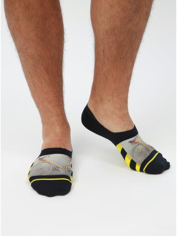 Čierne pánske vzorované ponožky XPOOOS