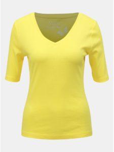 Žlté basic tričko M&Co