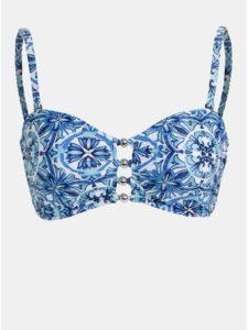 Modrý vzorovaný vrchný diel plaviek M&Co
