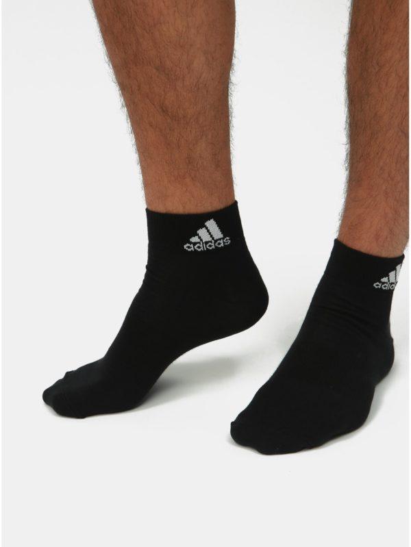 Balenie troch párov pánskych ponožiek v bielej, sivej a čiernej farbe adidas Performance