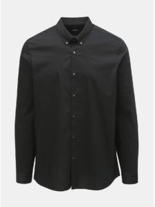 Čierna skinny fit košeľa Burton Menswear London