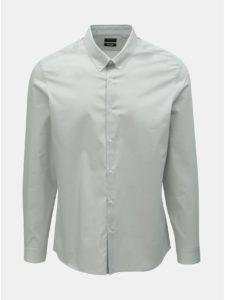 Sivá skinny fit košeľa Burton Menswear London