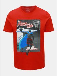 Červené slim fit tričko Jack & Jones Art