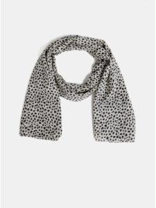 Béžová šatka s leopardím vzorom Pieces Curie