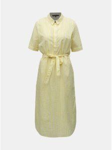 Žlté pruhované košeľové šaty VERO MODA Cassie