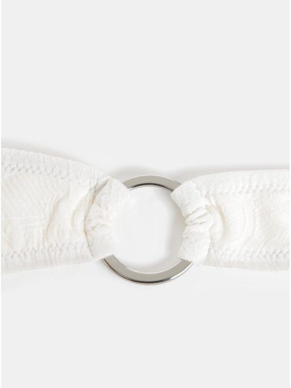 Biely spodný diel plaviek s drobným vzorom Y.A.S Inoa