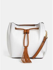 Biela vaková crossbody kabelka Gionni Mary
