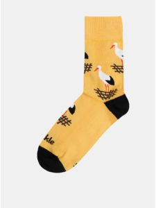 Oranžové vzorované ponožky Fusakle Bocian