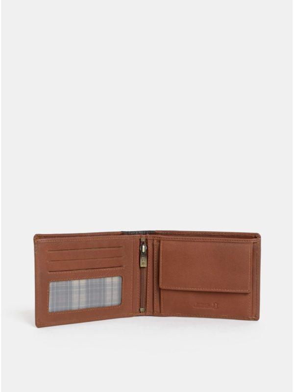 Hnedá pánska kožená peňaženka Dice Coble