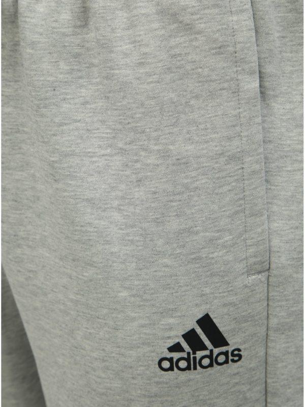 Sivé pánske tepláky adidas Performance