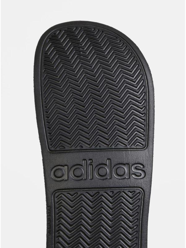 Čierne pánske pruhované šľapky adidas CORE Adilette Shower