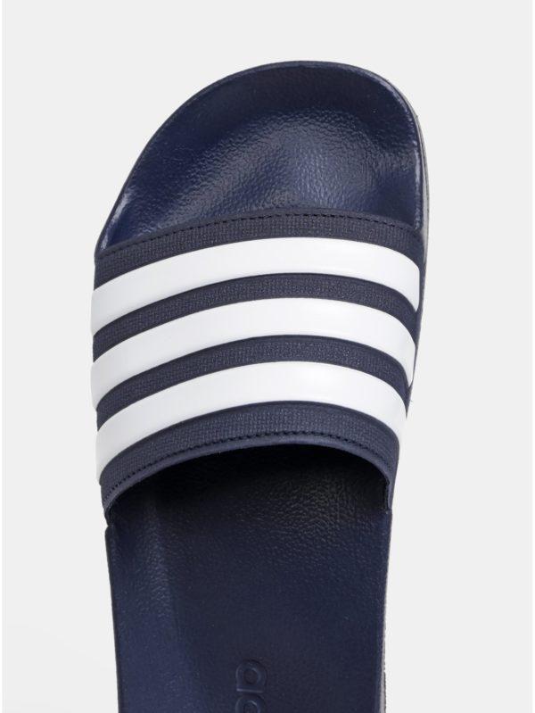 Tmavomodré pánske pruhované šľapky adidas CORE Adilette Shower