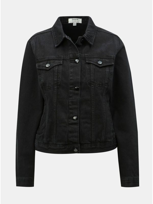 Čierna rifľová bunda Dorothy Perkins