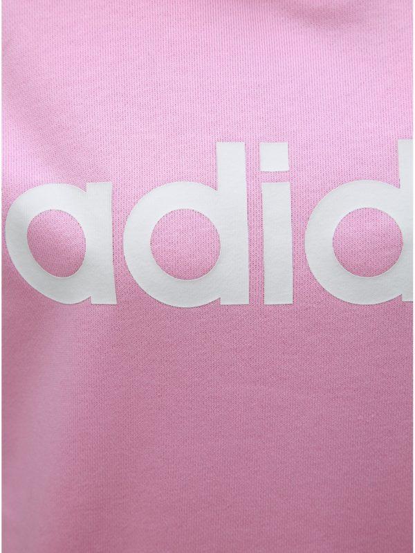 0f2f1992e Ružová dámska mikina s potlačou adidas CORE | Moda.sk
