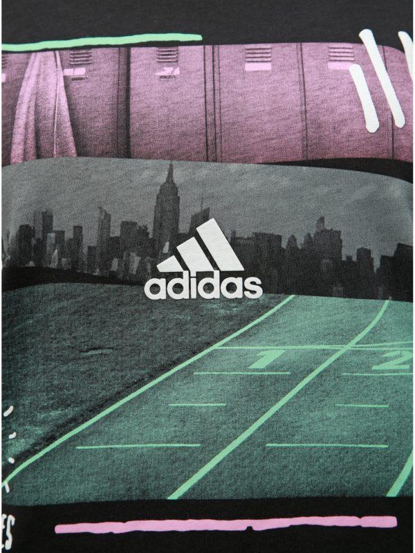 Čierne dámske tričko s potlačou adidas Performance