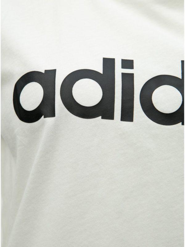 Biele dámske slim fit tričko s potlačou adidas CORE