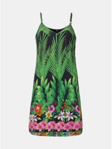 Zelené vzorované šaty Desigual Annette