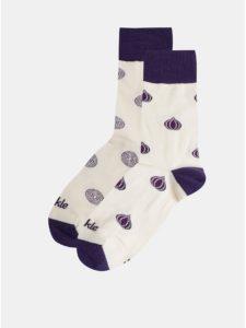 Fialovo–krémové vzorované ponožky Fusakle Cvibl