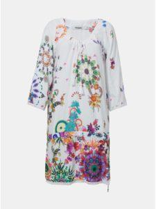 Biele vzorované šaty Desigual Melina
