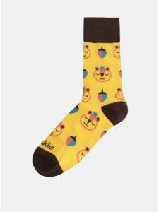 Žlté dámske vzorované ponožky Fusakle Brum