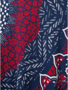Tmavomodrá vzorovaná sukňa Desigual Nise