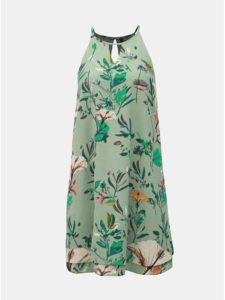 Zelené kvetované šaty s prestrihmi ONLY Mariana