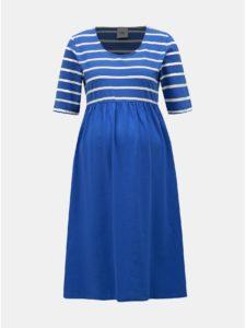 Modré pruhované tehotenské šaty Mama.licious Madelleine