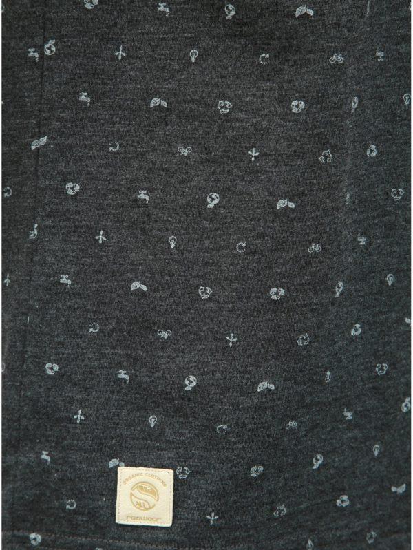 Tmavosivé pánske vzorované tričko Ragwear Romare Organic