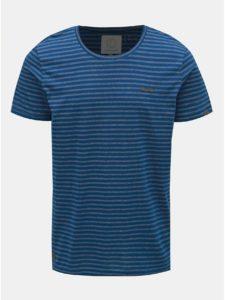 Tmavomodré pánske pruhované tričko Ragwear Paul Stripe Organic