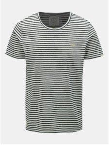 Čierno–biele pánske pruhované tričko Ragwear Paul Stripe Organic