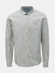 Sivo–biela pruhovaná košeľa Shine Original