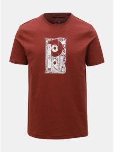 Hnedé tričko s potlačou ONLY & SONS Patrik
