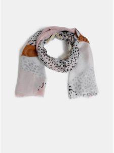 Ružovo–biela vzorovaná šatka Pieces Erle