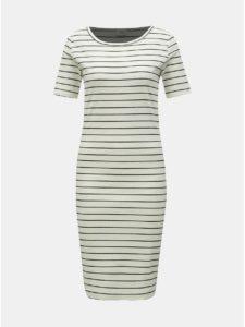 Biele pruhované šaty Jacqueline de Yong Nevada
