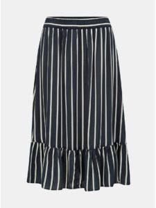 Modrá pruhovaná sukňa Jacqueline de Yong Star Frill