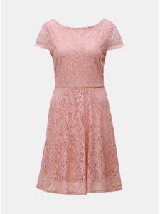 Staroružové čipkované šaty VERO MODA Sassa