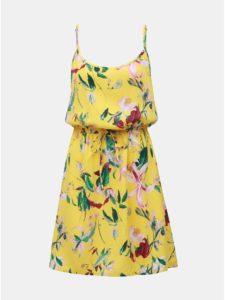 Žlté kvetované šaty VERO MODA Simply