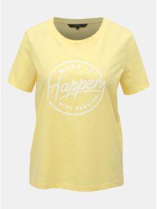 Žlté tričko s potlačou VERO MODA Team