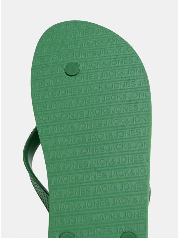 Zelené pánske vzorované žabky Jack & Jones Tropical